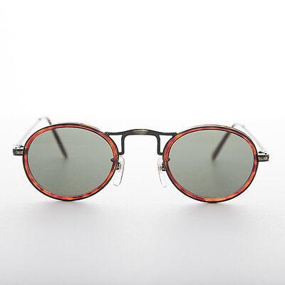 Oval Runde Sonnenbrille Optisch Qualität Bronzefarben und Braun