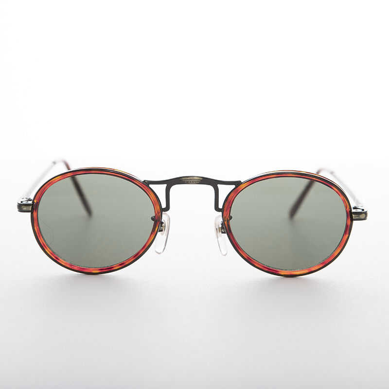 Oval Round Sunglasses Optical Quality Bronze and Brown Tortoise Frame - Gatsby
