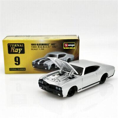Bburago 1:64 Eternal Ray Oldsmobile 442 1969 Diecast Model Car