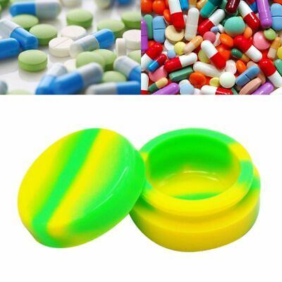 3ml Mini Silicone Case Pill Storage Organizer Tablets Dispenser Medicine Box