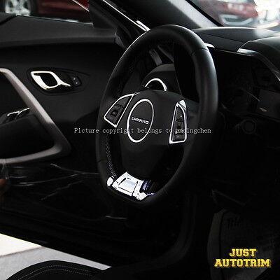 Chrome Interior steering wheel Cover Trims for 2016 2017 Chevrolet Camaro