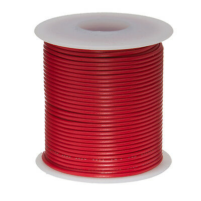 26 Awg Gauge Stranded Hook Up Wire Red 100 Ft 0.0190 Ul1007 300 Volts