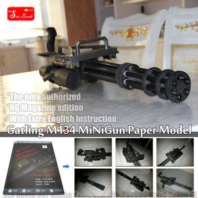 Gatling M134 minigun 3D paper model toy Machine gun cosplay weapons gun 1:1 for sale  China