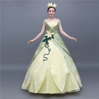The Princess and the Frog Tiana Disney Cosplay Costume Abend Kleid Kostüm dress