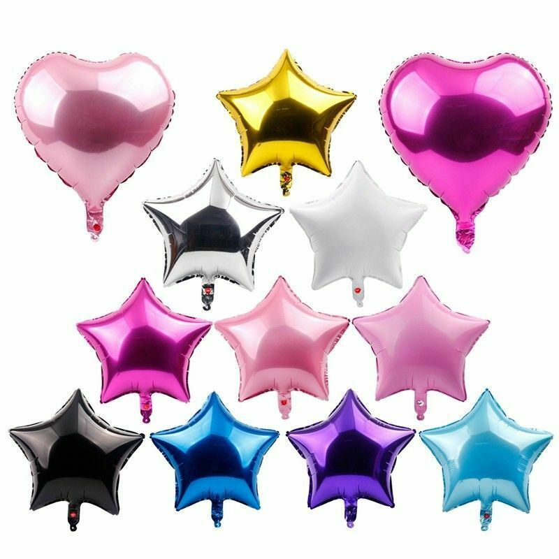 """18"""" Foil Star Heart Round Balloons Wedding Party Happy Holid"""