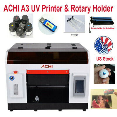 Achi A3 Uv Printer 1390 Printer Head Rotary Holder For Flat Metal Cylindrical