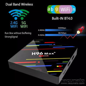 Smart Android 8.1 wifi Wireless link set top box H96 max