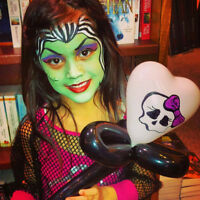 MONSTER HIGH Face Painting, Mr. BAZINGA'S Balloon Twisting