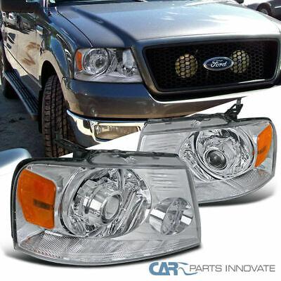 04-08 F150 06-08 Mark LT Pickup Chrome Retrofit Style Projector Headlights Lamps