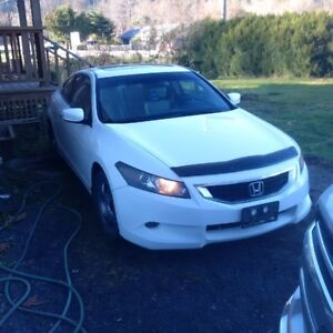2009 white 2 Door Honda Accord For Sale