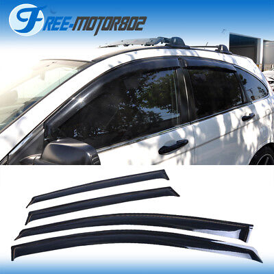 For 07-11 Honda CRV CR-V Dark Smoke 4PC Sun Window Visors Rain Guard Shade