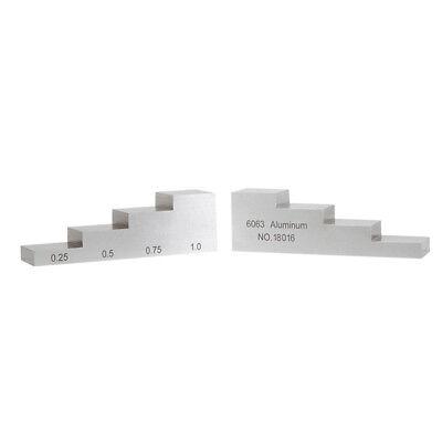 Yushi Aluminum Calibration Block Thickness Testing 4-step 0.25 0.5 0.75 1