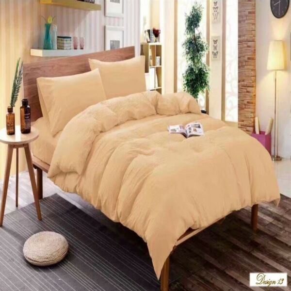 KING Bed CREAM COLOR Fitted BedSheet + 2 Pillowcases Set NEW