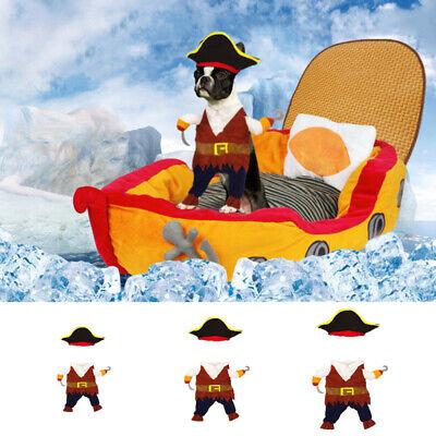 Pet Kleine Katze Hund Piraten Cosplay Kapitäme Kostüm Outfit Kleidung Für Hallow ()