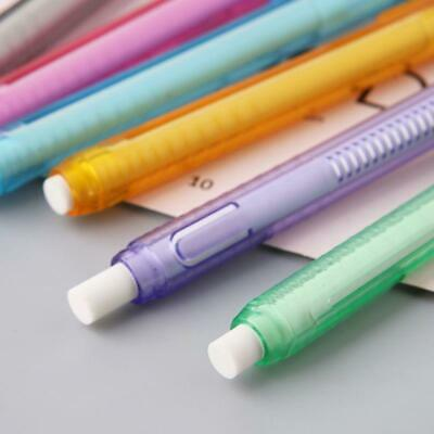 Press Pen Shaped Eraser Writing Drawing Pencil Erase Student Learning Painting