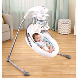Fisher price my little lamb platinum baby cradle and swing