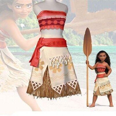 Halloween Moana Polynesia Princess Cosplay Costumes Outfits Adult & Kids Women