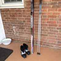 Classic cross country Salomon ski package