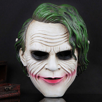 Batman Joker Mask Adult Full Overhead Resin Mask for Cosplay Show Costume Party - Batman Mask For Adults