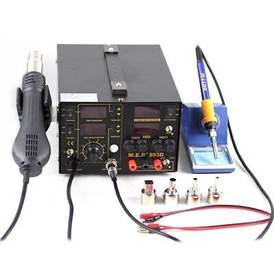 3 In1 853d Soldering Iron Rework Station Hot Air Gun Heat Gun Repair Tools