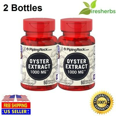 #1 BEST OYSTER 15:1 EXTRACT 1000MG PROSTATE HEALTH PILLS SUPPLEMENT 120 CAPSULES