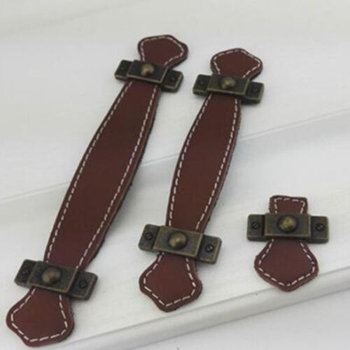 Faux Leather Cabinet Handles Furniture Wardrobe Drawer