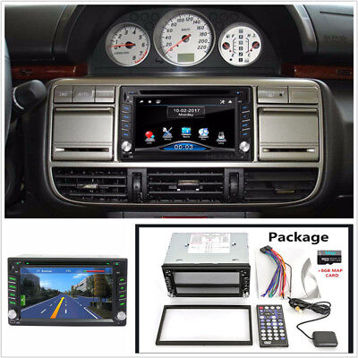 2Din 6.2'' GPS Touch Screen HD Car Stereo Player SD/USB Steering Wheel Control