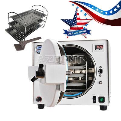 Us Dental Autoclave Steam Sterilizer Medical Sterilization Equipment 18l New
