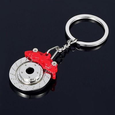 Llavero Freno de disco y Pinza BREMBO Coche Rojo metalizado Key chain NUEVO