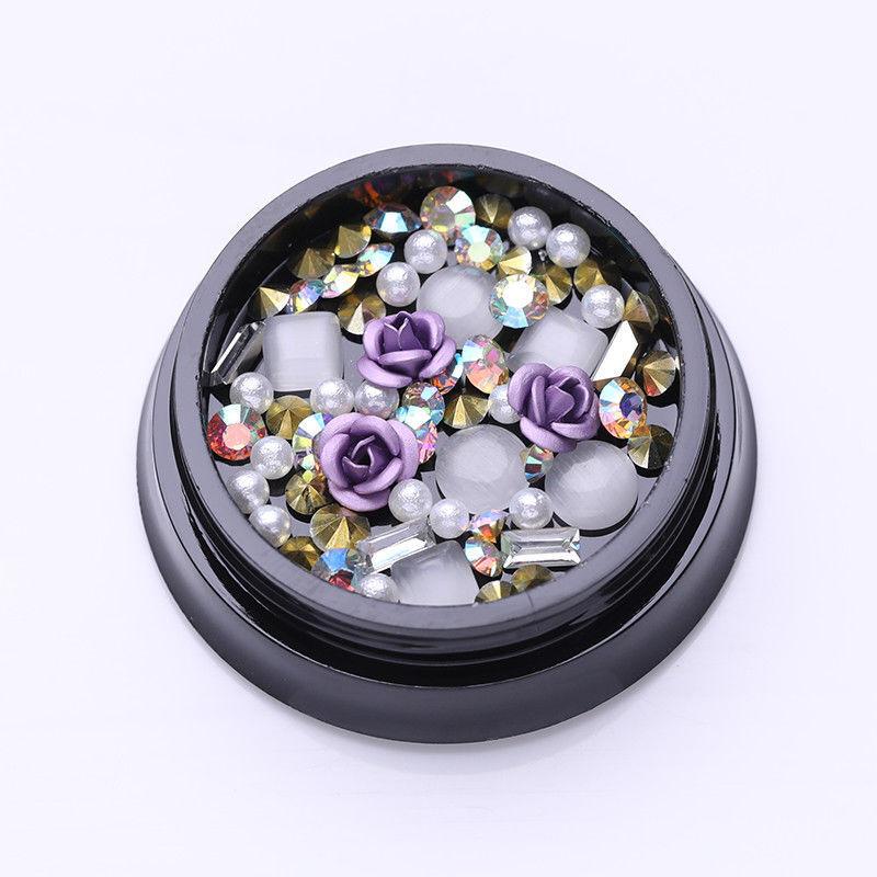 1Box Purple Rose Beads