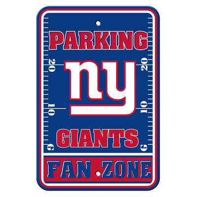 NFL New York Giants Home Room Office Bar Decor Parking Sign Fan Zone 12