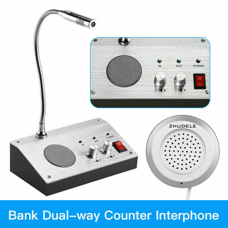 Dual Way Window Glass Counter Intercom Speaker System For Office Hospital/ Store