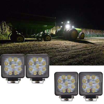 4x 27w Led Head Lamp For Caterpillar Excavators Milling Machine Light Bulb Work