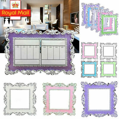 Home Decoration - Bling Resin Double/Single Light Switch Surround Socket Plate Panel Cover Decor