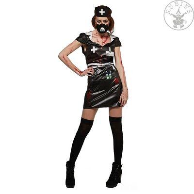 Horror Nurse Gr. L Krankenschwester Kostüm schwarz Gothic black - Krankenschwester Kostüm Schwarz