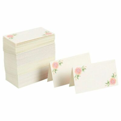 Party Table Name Cards (100 Floral Name Place Card Wedding Cards Party Birthday Decor Table)