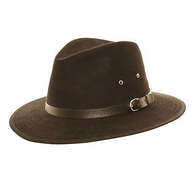 Unisex Black Faux Suede Fedora Trilby  Hat with Wide Brim and Belt (Suede Cap Black Belt)