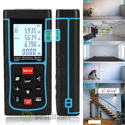 100m/328ft Digital Laser IR Distance Meter Range Finder Measure Tape Diastimeter