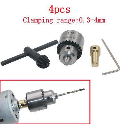 4 Pcsset Micro Motor Drill Chucks Clamp 0.3-4mm Taper Drill With Chuck Key 3.17