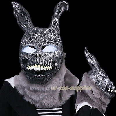 Horrible Donnie Darko FRANK Bunny Rabbit Halloween Cosplay Mask W/Fur Adult Gift