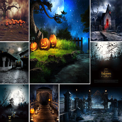Halloween Vinyl Photography Backdrops Collapsible Background For Photo Studio
