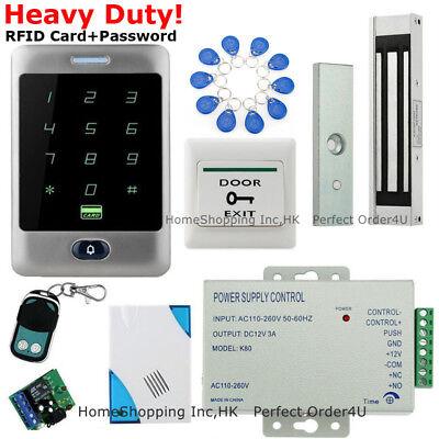 Us Waterproof Rfid Cardpassword Door Access Control Magnetic Lock Remotebell
