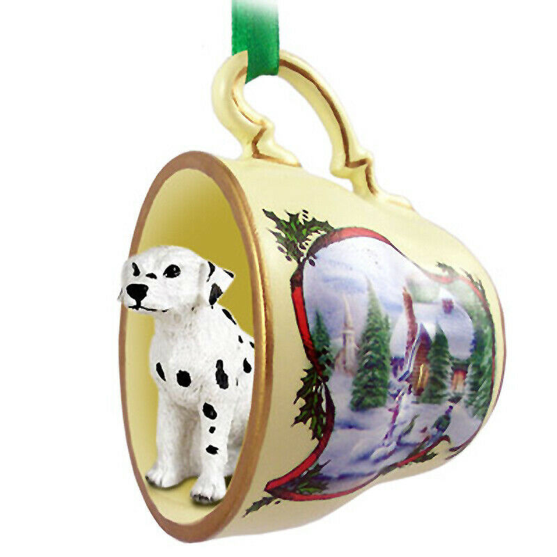Dalmatian Christmas Teacup Ornament