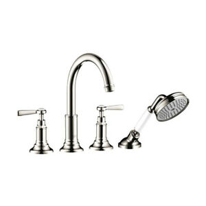 Hansgrohe 16550831 Axor Montreux 4 Hole Roman Tub Set Polished N