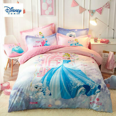 Pink DISNEY Princess bedding set twin size 100% cotton quilt