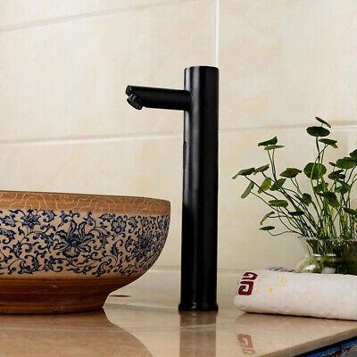 Black Touchless Electronic Bathroom Vessel Sink Faucet Basin Wash Hand Filler