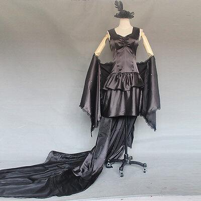 Tokyo Ghoul Kamishiro Rize Cosplay costume Abend-Kleid dress Gothic Schwarz Goth