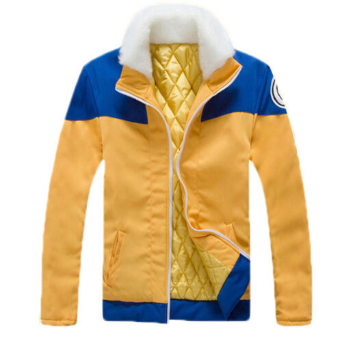 Anime Uzumaki Naruto Jacket Sweatshirt Cotton Casual Cosplay Costume Size S-XXL