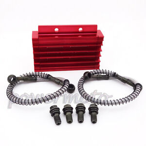 CNC Cooling Radiator Oil Cooler For 125 140 cc Lifan Zongshen YX Pit Dirt Bike