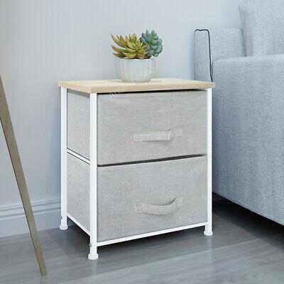 Fabric Cabinet Bedside Table Storage Unit Metal Frame Organiser Chest of - Cabinet Storage Unit